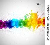 holi vector background ... | Shutterstock .eps vector #597328328