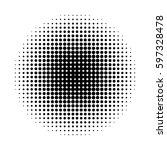 vector of halftone circles ... | Shutterstock .eps vector #597328478