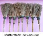 stick brooms the brooms make... | Shutterstock . vector #597328850