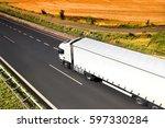 truck transportation | Shutterstock . vector #597330284