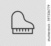 piano vector icon eps 10 on... | Shutterstock .eps vector #597336779