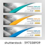 abstract web banner design... | Shutterstock .eps vector #597338939