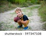 Cute Little Boy In Casual...