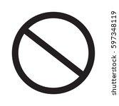 prohibition sign on white... | Shutterstock .eps vector #597348119