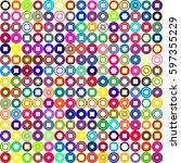 geometric seamless pattern... | Shutterstock .eps vector #597355229