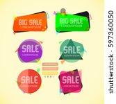 label design logo vector... | Shutterstock .eps vector #597360050