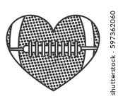 grayscale background of heart... | Shutterstock .eps vector #597362060