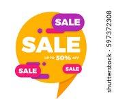 colorful speech bubble sale...   Shutterstock .eps vector #597372308