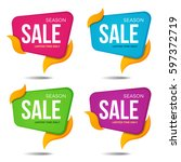 collection of sale labels price ... | Shutterstock .eps vector #597372719