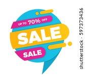 colorful speech bubble sale...   Shutterstock .eps vector #597373436