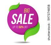 big sale label price tag banner ... | Shutterstock .eps vector #597374858