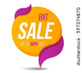 big sale label price tag banner ... | Shutterstock .eps vector #597374870