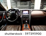 leather interior car | Shutterstock . vector #597395900