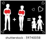 happy family   Shutterstock . vector #59740058