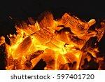 Bbq Glowing Charcoal