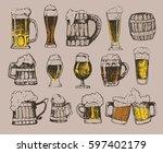 october fest. vector beer... | Shutterstock .eps vector #597402179