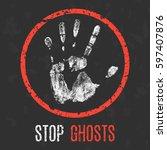 vector illustration. paranormal ... | Shutterstock .eps vector #597407876