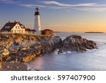 The portland head lighthouse in ...
