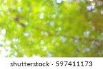 tree green bokeh green... | Shutterstock . vector #597411173