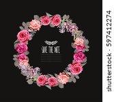 Elegant Floral Wreath  Design...
