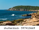 Maine\'s Rocky  Forest Lined...