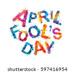 april fool's day. april 1st... | Shutterstock .eps vector #597416954