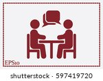 vector illustration people at a ... | Shutterstock .eps vector #597419720