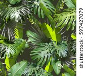 Tropical Leaves Pattern Palm Plants - Fine Art prints