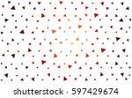 dark red vector of small... | Shutterstock .eps vector #597429674