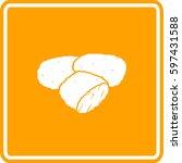 breaded and deep fried chicken... | Shutterstock .eps vector #597431588