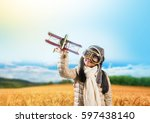 happy indian asian girl kid... | Shutterstock . vector #597438140