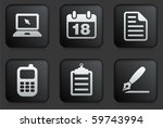 Equipment Icons On Square Blac...