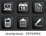 Equipment Icons On Square Blac...