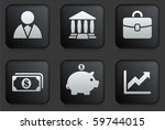 economy icons on square black... | Shutterstock .eps vector #59744015
