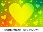light green  yellow vector... | Shutterstock .eps vector #597442094