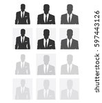 unknown person silhouette. ... | Shutterstock .eps vector #597443126