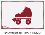 vector illustration of roller... | Shutterstock .eps vector #597445220