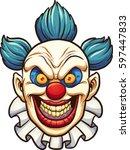 evil cartoon clown. vector clip ... | Shutterstock .eps vector #597447833