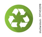 recycle symbol. flat design... | Shutterstock .eps vector #597453398