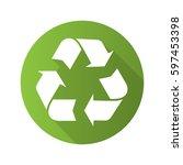 recycle symbol. flat design... | Shutterstock .eps vector #597453398