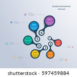 infographics timeline template... | Shutterstock .eps vector #597459884