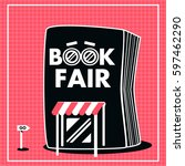 book fair sale with  black and... | Shutterstock .eps vector #597462290