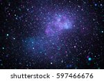 bright galaxy. abstract stars... | Shutterstock . vector #597466676