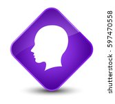head female face icon isolated... | Shutterstock . vector #597470558