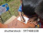 guatemala   september 27  2013  ... | Shutterstock . vector #597488108