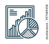 report and pie chart vector...   Shutterstock .eps vector #597489458