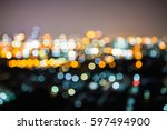 Small photo of Blurred of Night city-scape,Bankkok thailand