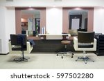 interior of a hairdressing salon | Shutterstock . vector #597502280