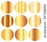 vector shiny gold white foil... | Shutterstock .eps vector #597508004
