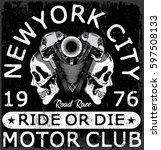 motorcycle label t shirt design ...   Shutterstock .eps vector #597508133